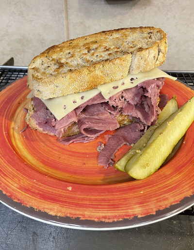 mountain bar and grill black river corned beef sandwich